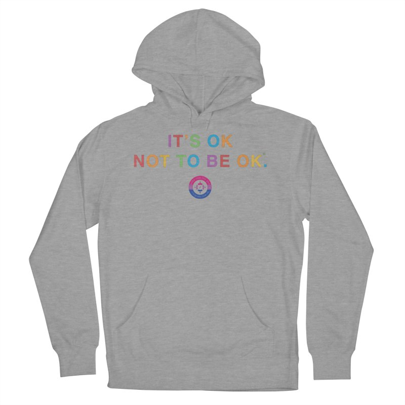IT'S OK Bisexual Women's French Terry Pullover Hoody by Hope for the Day Shop