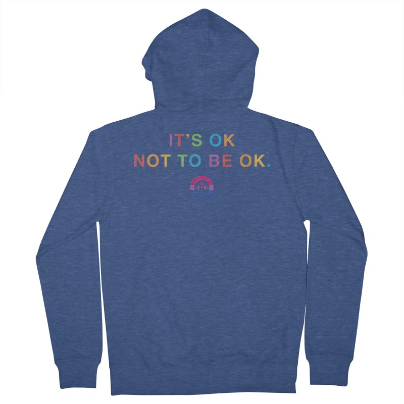 IT'S OK Bisexual Women's French Terry Zip-Up Hoody by Hope for the Day Shop