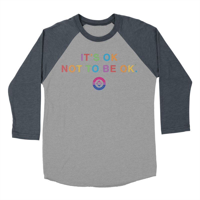 IT'S OK Bisexual Men's Baseball Triblend Longsleeve T-Shirt by Hope for the Day Shop