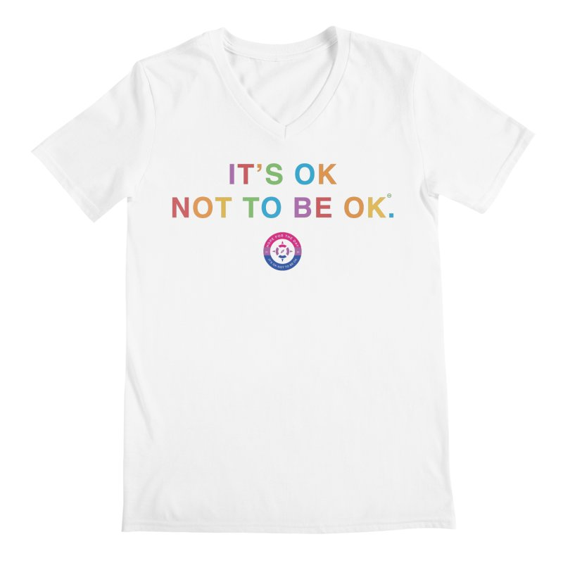IT'S OK Bisexual Men's V-Neck by Hope for the Day Shop