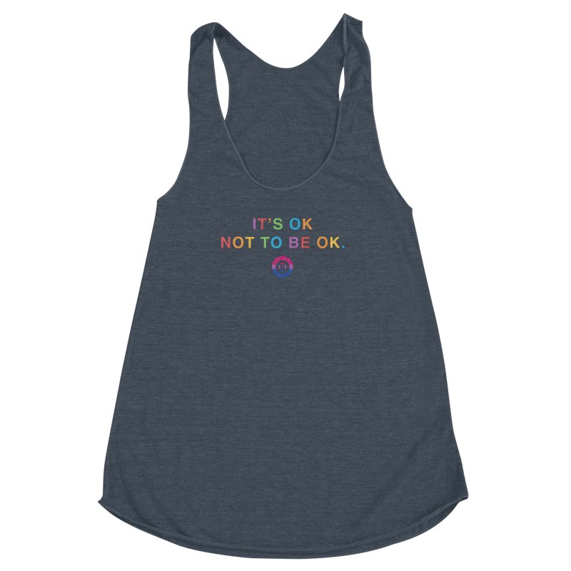 IT'S OK Bisexual Women's Racerback Triblend Tank by Hope for the Day Shop