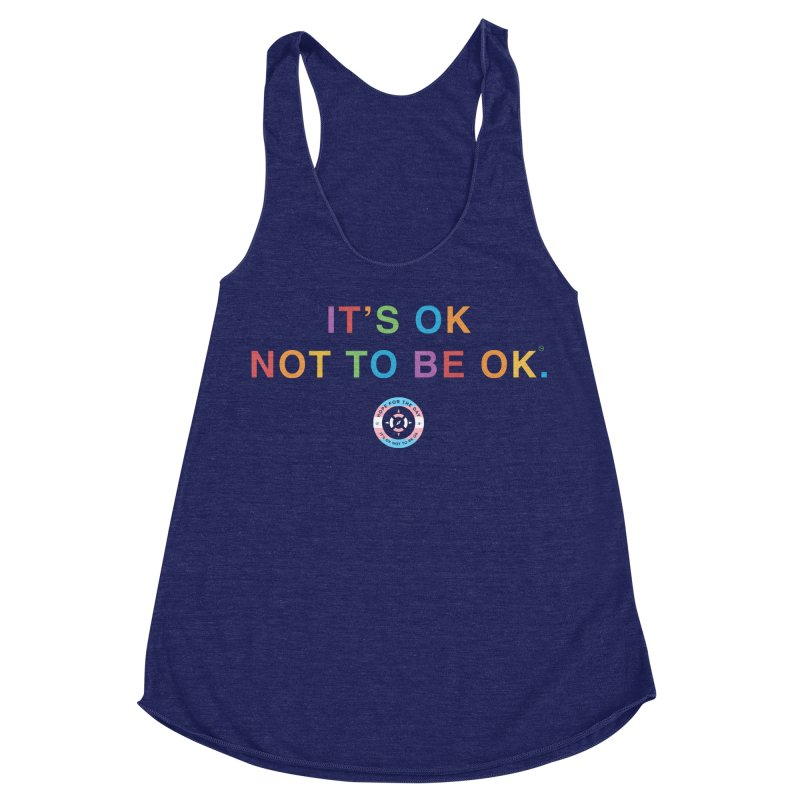 IT'S OK Transgender Women's Racerback Triblend Tank by Hope for the Day Shop