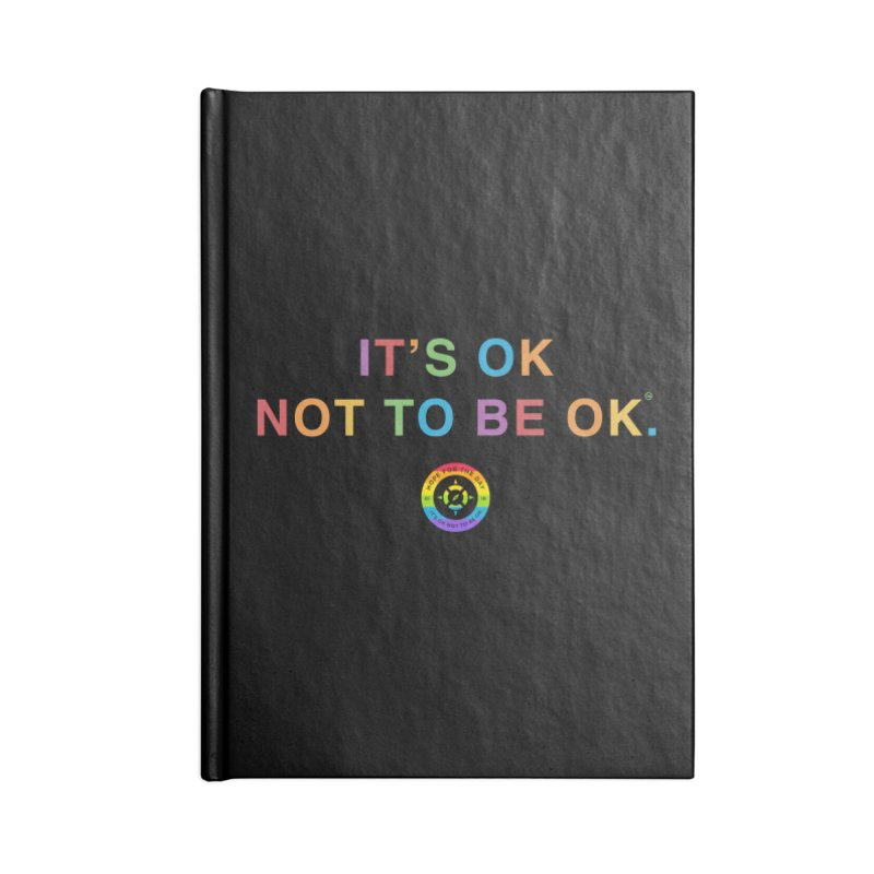 IT'S OK LGBT Accessories Blank Journal Notebook by Hope for the Day Shop