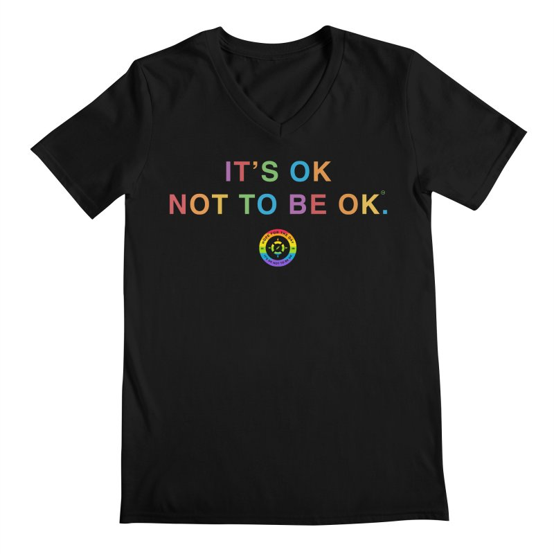 IT'S OK LGBT Men's Regular V-Neck by Hope for the Day Shop