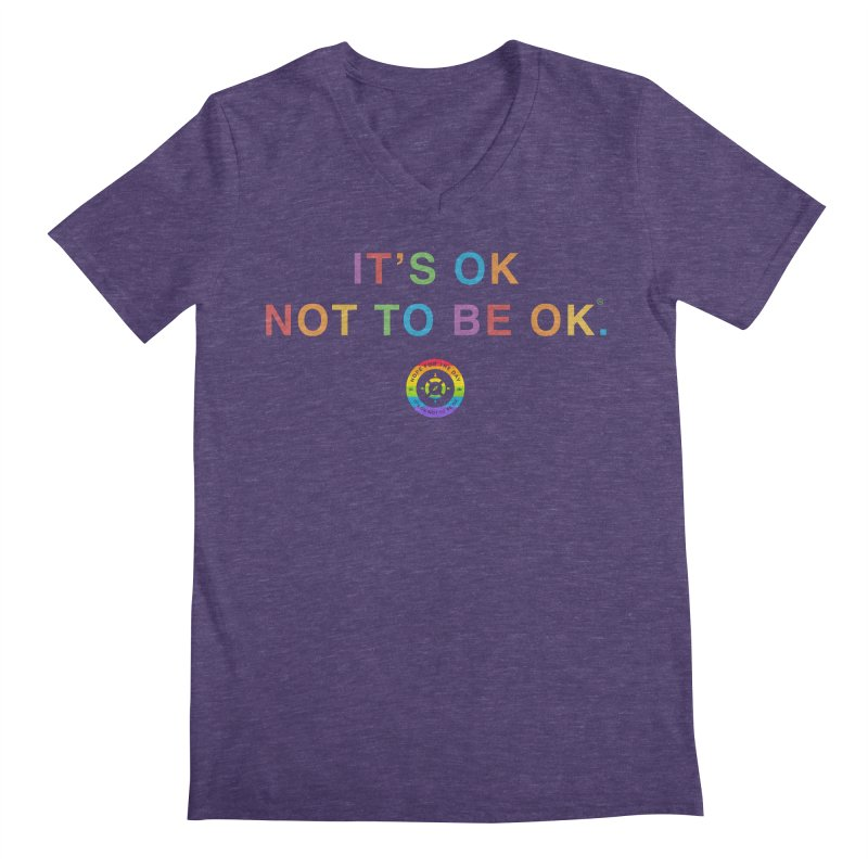 IT'S OK LGBT Men's Regular V-Neck by Hope for the Day Shop