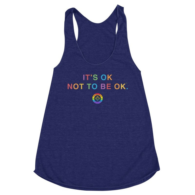 IT'S OK LGBT Women's Racerback Triblend Tank by Hope for the Day Shop