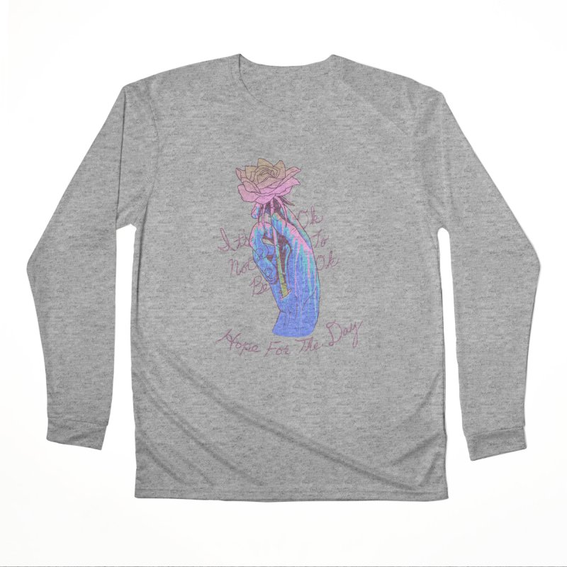 Hillary White Rabbit - Artist Series Men's Performance Longsleeve T-Shirt by Hope for the Day Shop