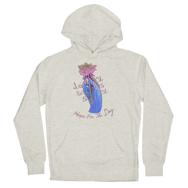 Hillary White Rabbit - Artist Series Women's French Terry Pullover Hoody by Hope for the Day Shop