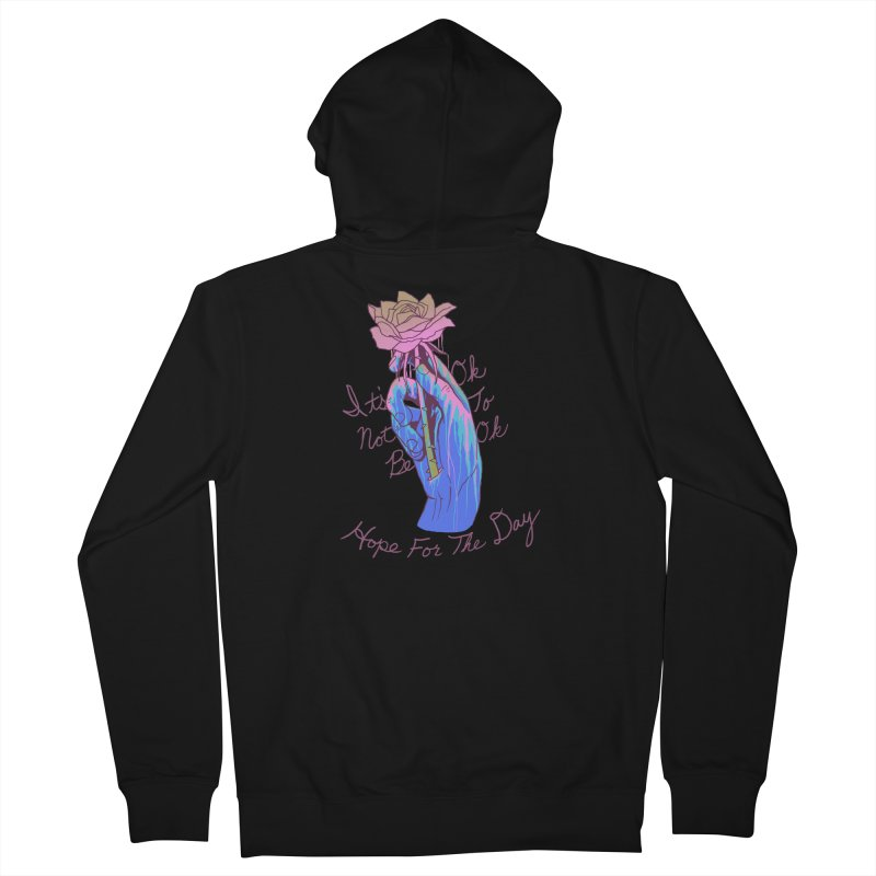 Hillary White Rabbit - Artist Series Women's Zip-Up Hoody by Hope for the Day Shop