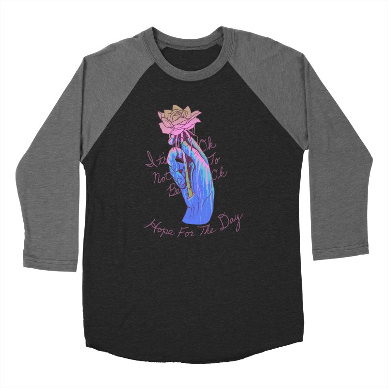 Hillary White Rabbit - Artist Series Men's Baseball Triblend Longsleeve T-Shirt by Hope for the Day Shop