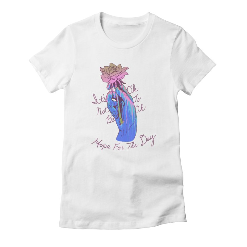 Hillary White Rabbit - Artist Series Women's T-Shirt by Hope for the Day Shop