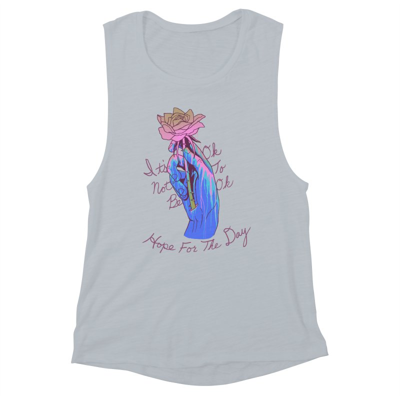 Hillary White Rabbit - Artist Series Women's Muscle Tank by Hope for the Day Shop