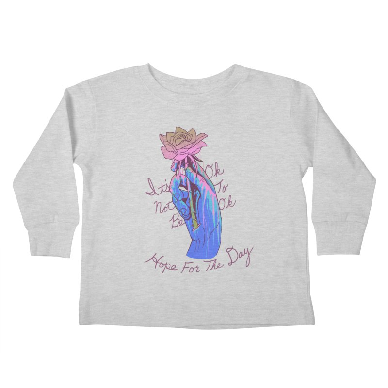 Hillary White Rabbit - Artist Series Kids Toddler Longsleeve T-Shirt by Hope for the Day Shop