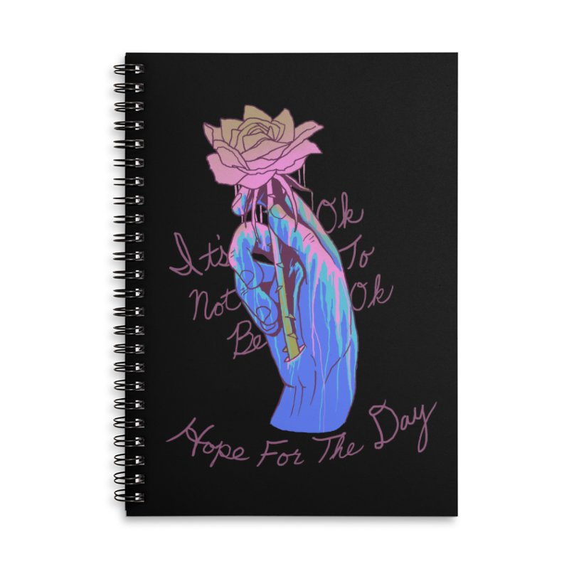 Hillary White Rabbit - Artist Series Accessories Lined Spiral Notebook by Hope for the Day Shop