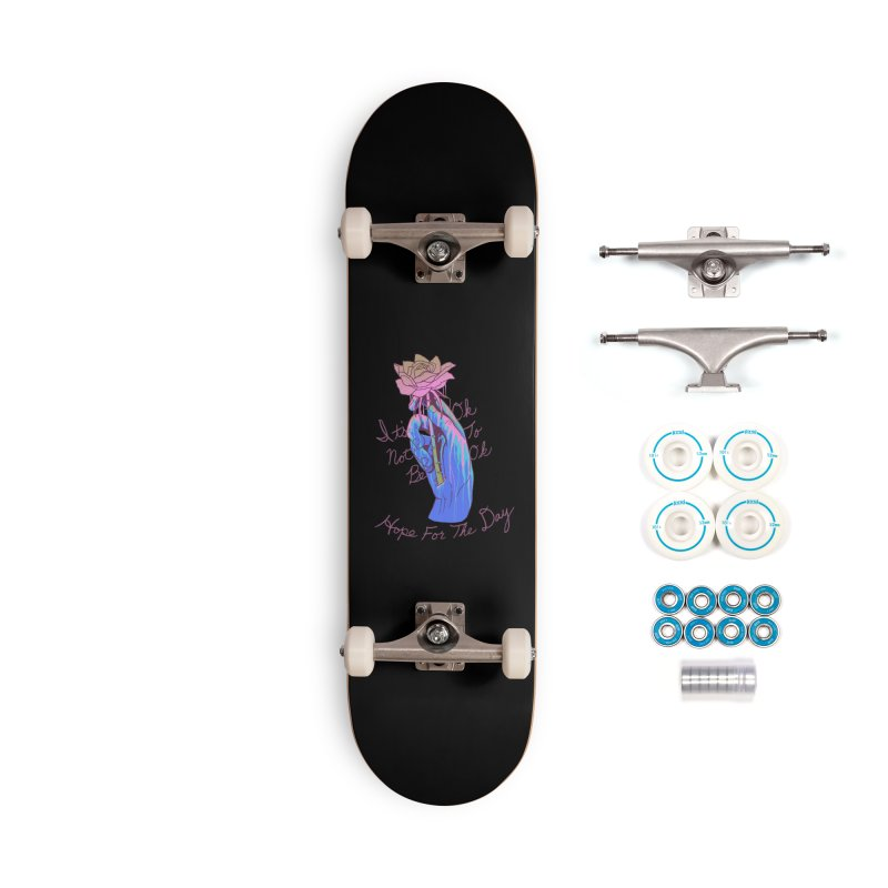 Hillary White Rabbit - Artist Series Accessories Complete - Basic Skateboard by Hope for the Day Shop