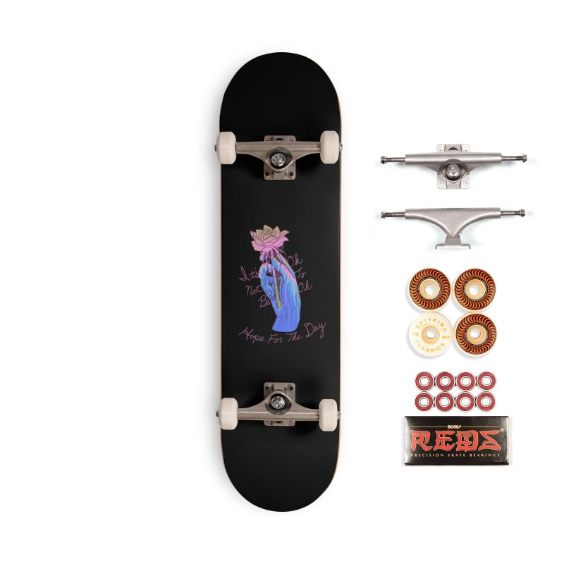 Hillary White Rabbit - Artist Series Accessories Skateboard by Hope for the Day Shop