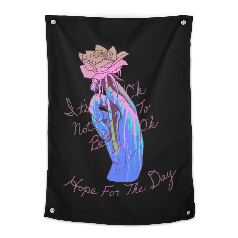 Hillary White Rabbit - Artist Series Home Tapestry by Hope for the Day Shop