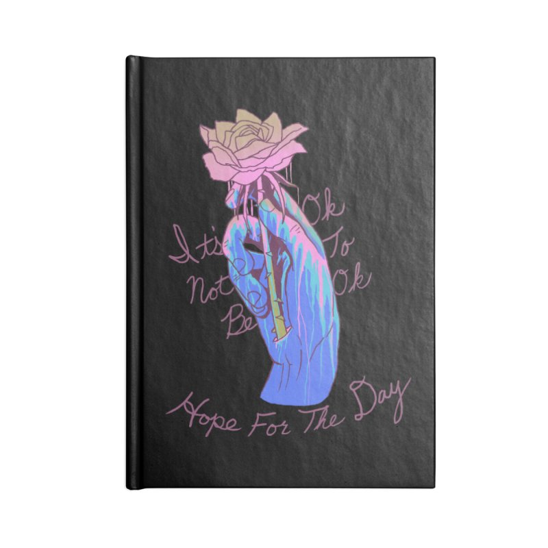 Hillary White Rabbit - Artist Series Accessories Blank Journal Notebook by Hope for the Day Shop