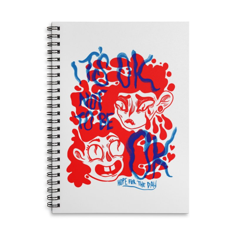 Anna Lisa - Artist Series Accessories Lined Spiral Notebook by Hope for the Day Shop
