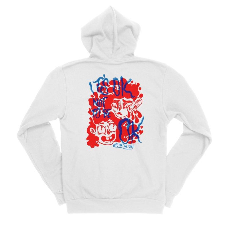 Anna Lisa - Artist Series Men's Sponge Fleece Zip-Up Hoody by Hope for the Day Shop