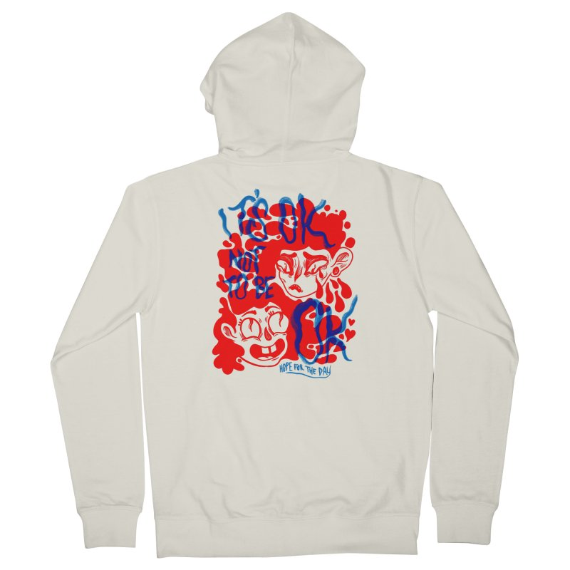 Anna Lisa - Artist Series Men's French Terry Zip-Up Hoody by Hope for the Day Shop