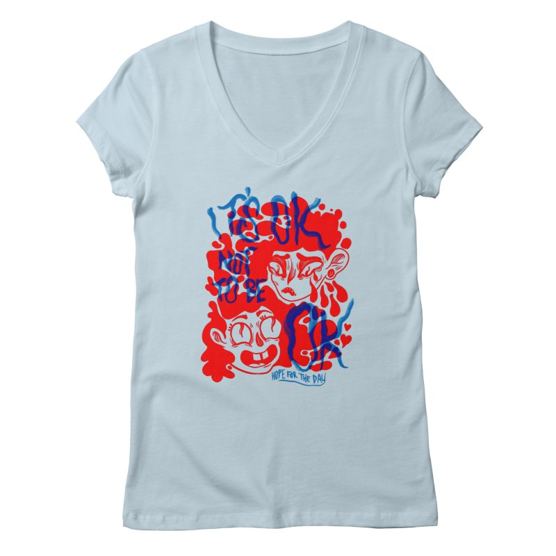 Anna Lisa - Artist Series Women's V-Neck by Hope for the Day Shop