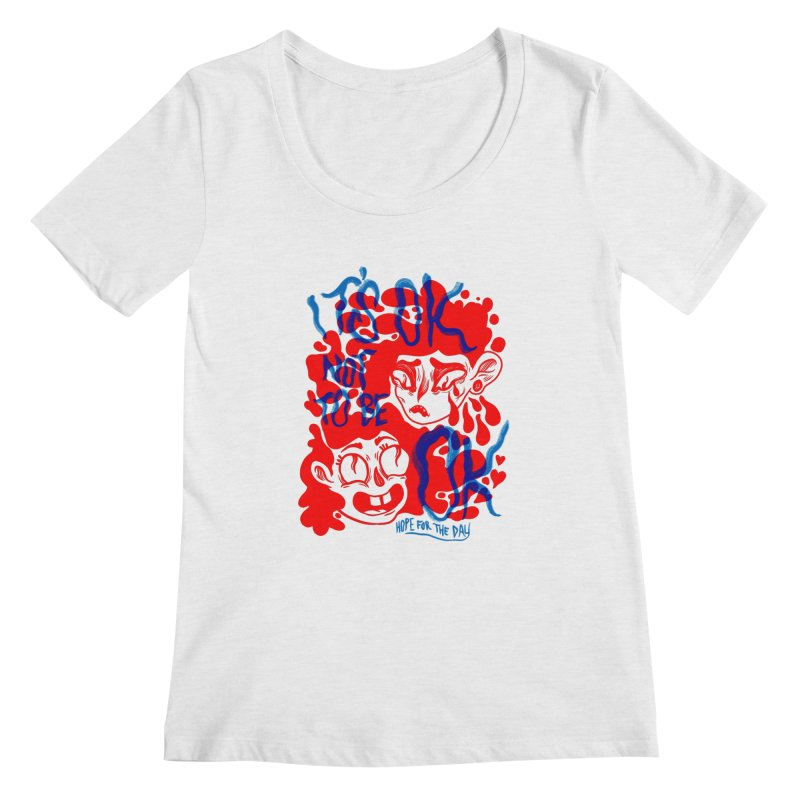 Anna Lisa - Artist Series Women's Regular Scoop Neck by Hope for the Day Shop