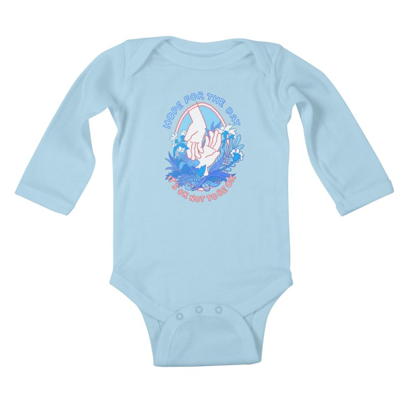 Andrea Bell - Artist Series Kids Baby Longsleeve Bodysuit by Hope for the Day Shop
