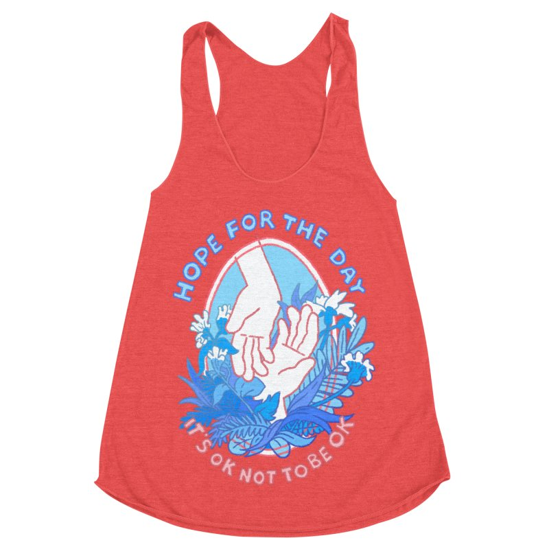 Andrea Bell - Artist Series Women's Racerback Triblend Tank by Hope for the Day Shop