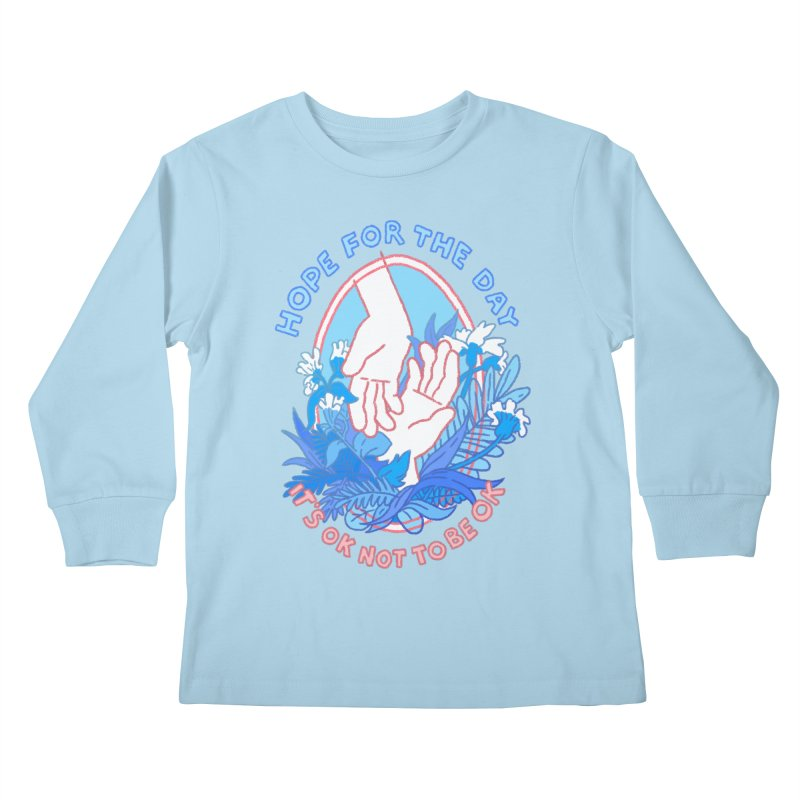 Andrea Bell - Artist Series Kids Longsleeve T-Shirt by Hope for the Day Shop
