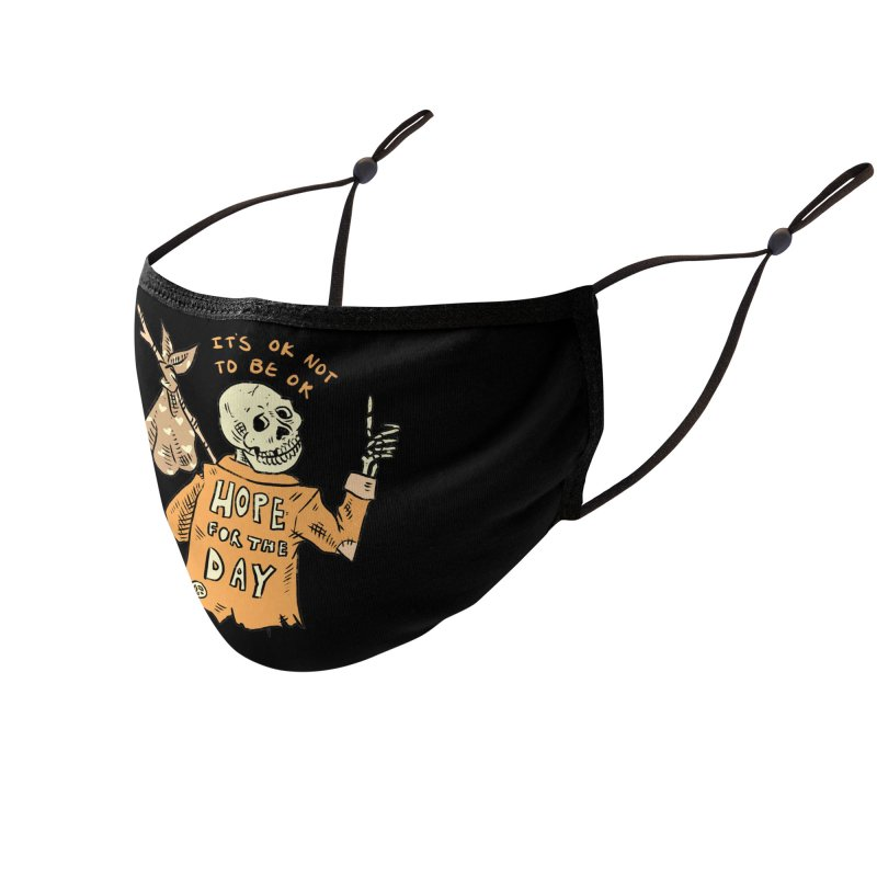 Karen Mooney - Down But Not Out Accessories Face Mask by Hope for the Day Shop