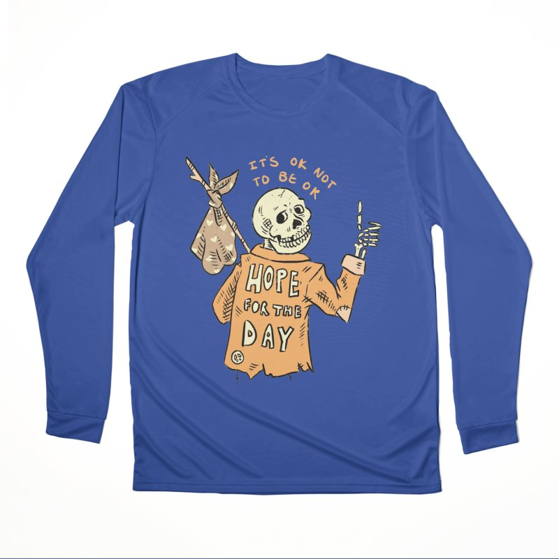Karen Mooney - Down But Not Out Women's Performance Unisex Longsleeve T-Shirt by Hope for the Day Shop