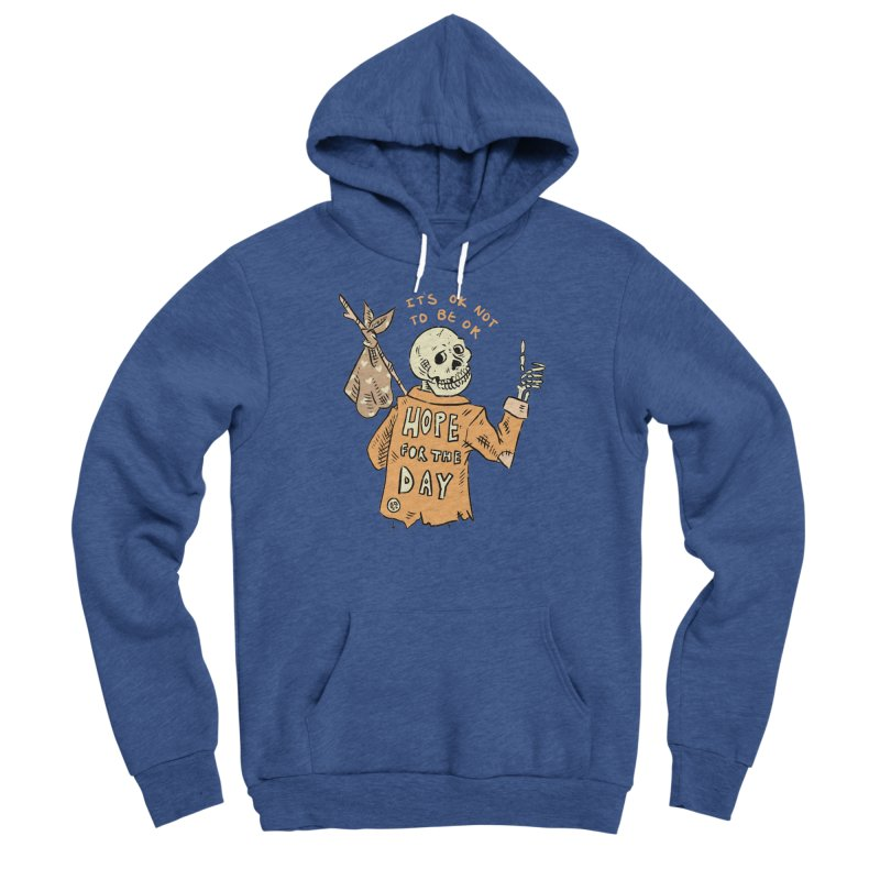 Karen Mooney - Down But Not Out Men's Pullover Hoody by Hope for the Day Shop