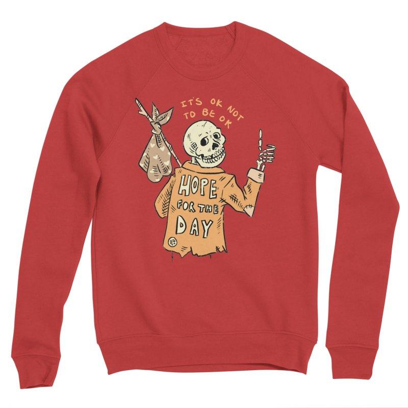 Karen Mooney - Down But Not Out Men's Sponge Fleece Sweatshirt by Hope for the Day Shop