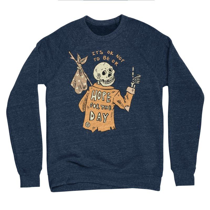 Karen Mooney - Down But Not Out Women's Sponge Fleece Sweatshirt by Hope for the Day Shop