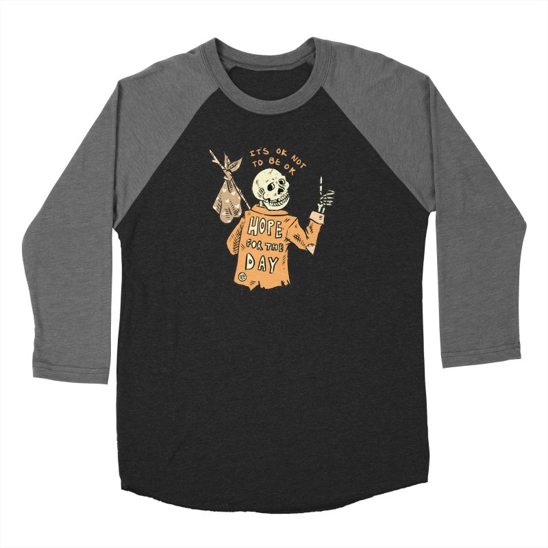 Karen Mooney - Down But Not Out Men's Baseball Triblend Longsleeve T-Shirt by Hope for the Day Shop