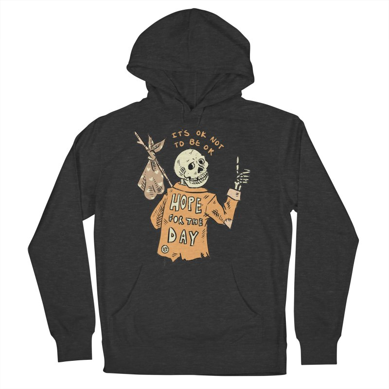 Karen Mooney - Down But Not Out Men's French Terry Pullover Hoody by Hope for the Day Shop