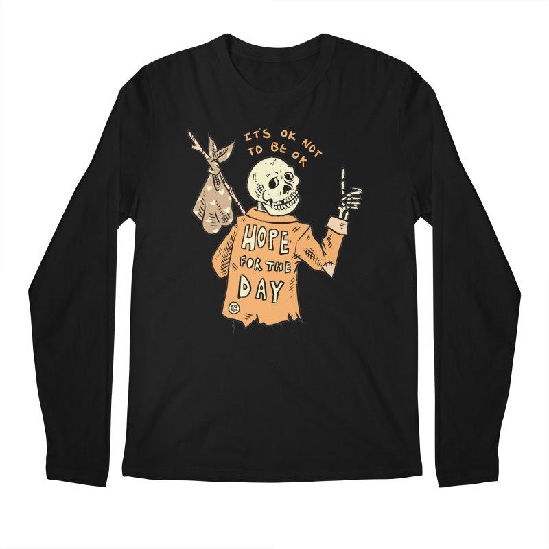 Karen Mooney - Down But Not Out Men's Regular Longsleeve T-Shirt by Hope for the Day Shop