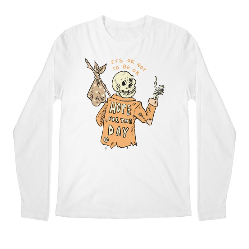Karen Mooney - Down But Not Out Men's Regular Longsleeve T-Shirt by Hope for the Day Shop