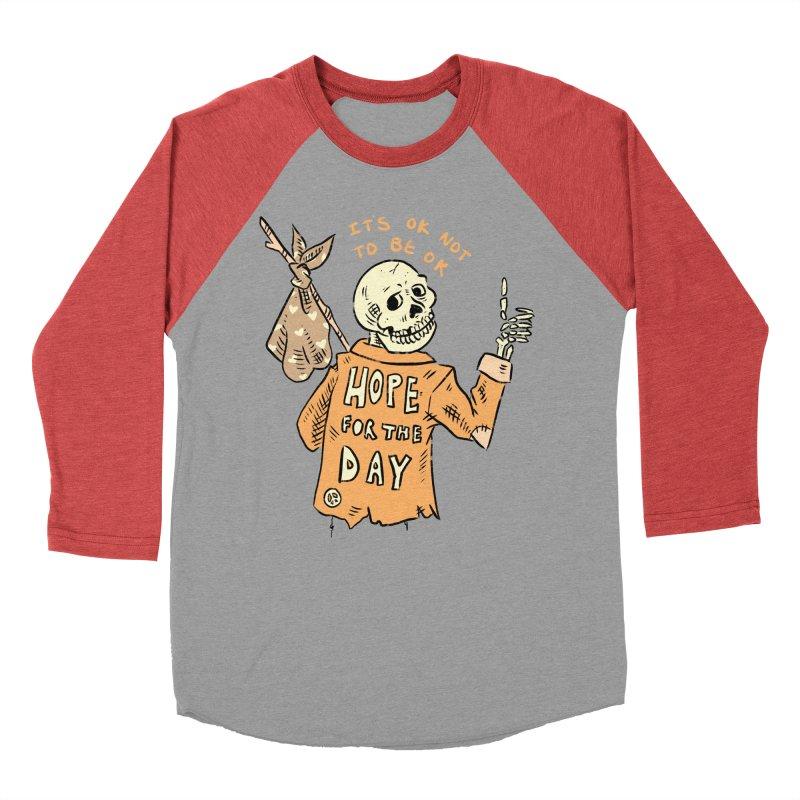 Karen Mooney - Down But Not Out Women's Baseball Triblend Longsleeve T-Shirt by Hope for the Day Shop