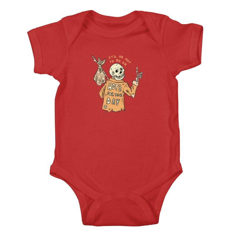 Karen Mooney - Down But Not Out Kids Baby Bodysuit by Hope for the Day Shop