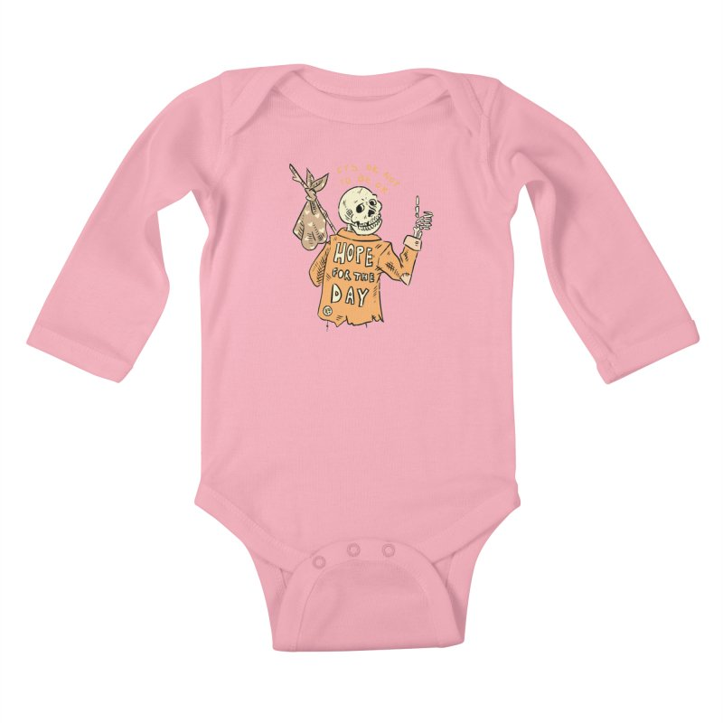 Karen Mooney - Down But Not Out Kids Baby Longsleeve Bodysuit by Hope for the Day Shop