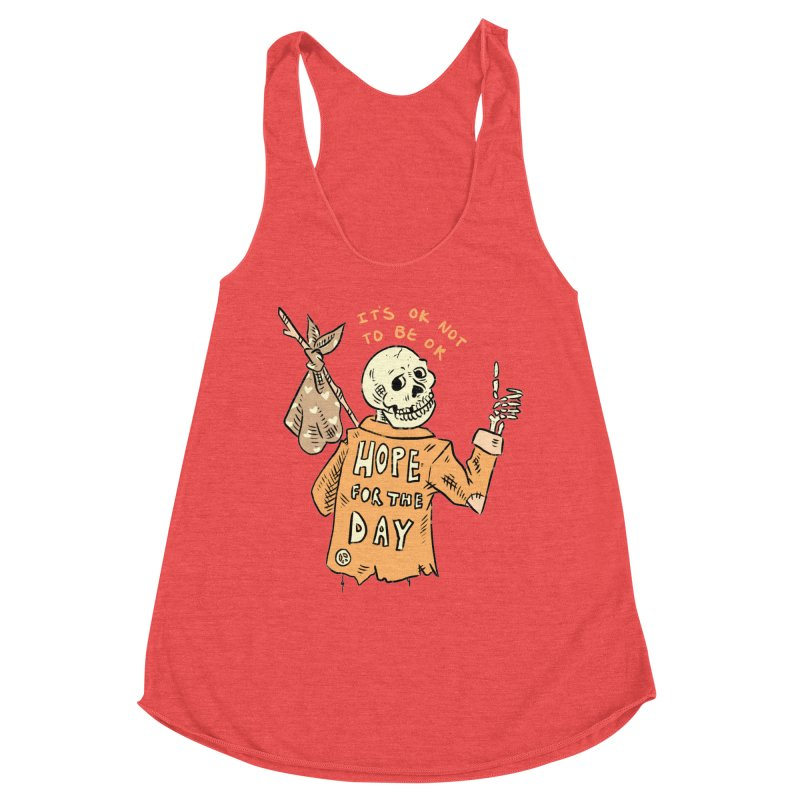 Karen Mooney - Down But Not Out Women's Racerback Triblend Tank by Hope for the Day Shop