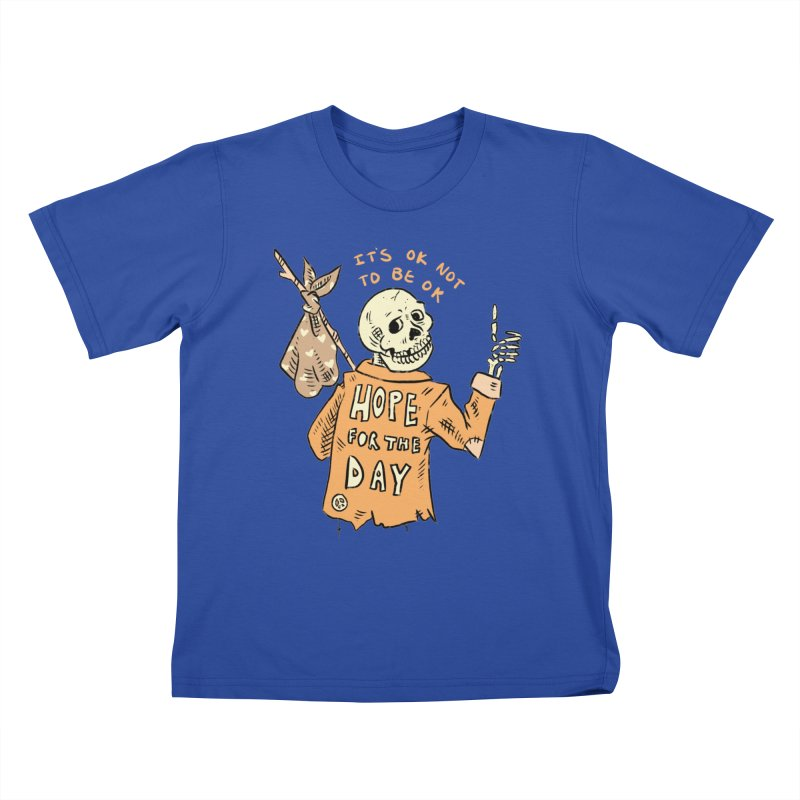 Karen Mooney - Down But Not Out Kids T-Shirt by Hope for the Day Shop