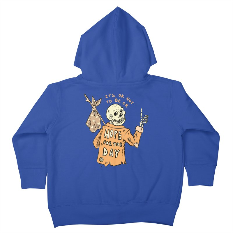 Karen Mooney - Down But Not Out Kids Toddler Zip-Up Hoody by Hope for the Day Shop