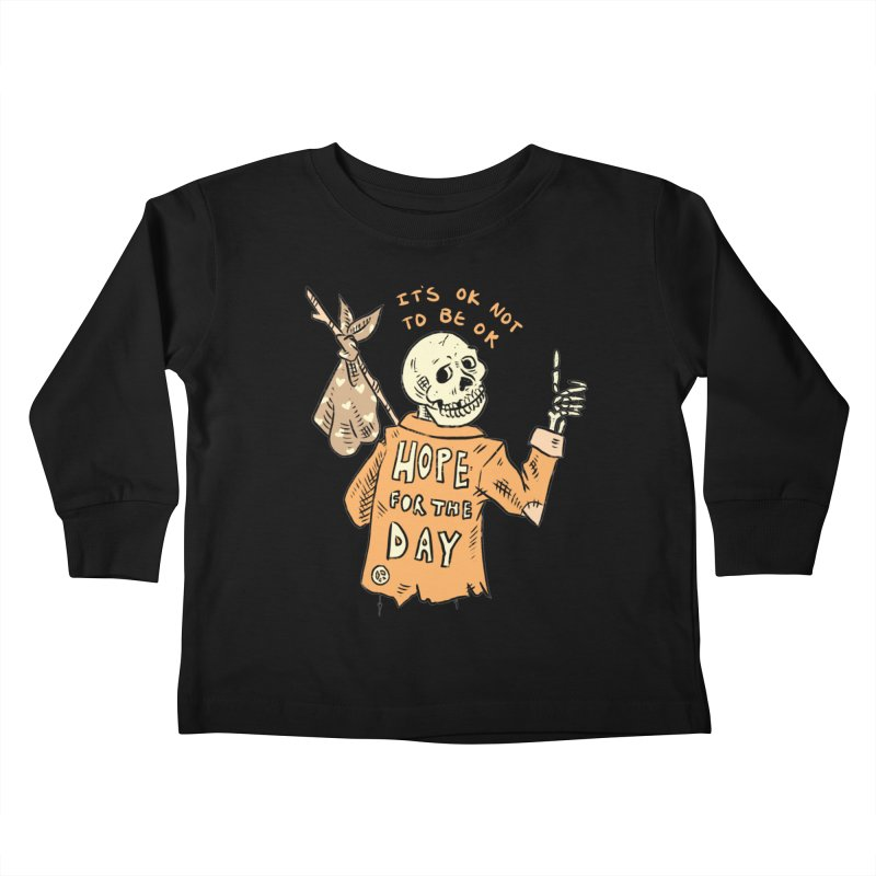 Karen Mooney - Down But Not Out Kids Toddler Longsleeve T-Shirt by Hope for the Day Shop