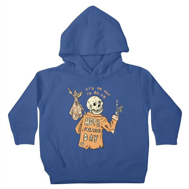 Karen Mooney - Down But Not Out Kids Toddler Pullover Hoody by Hope for the Day Shop