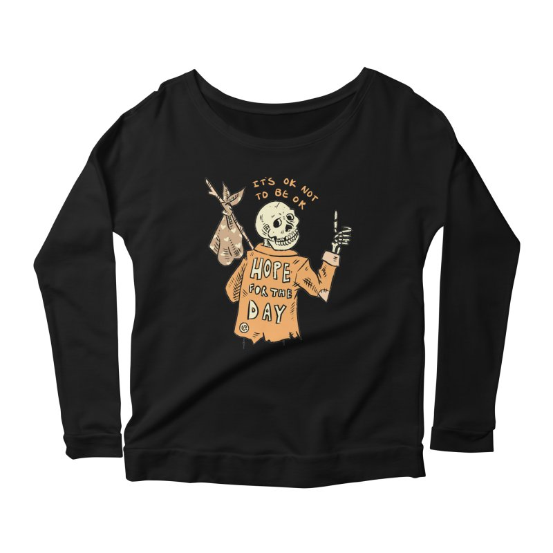 Karen Mooney - Down But Not Out Women's Scoop Neck Longsleeve T-Shirt by Hope for the Day Shop