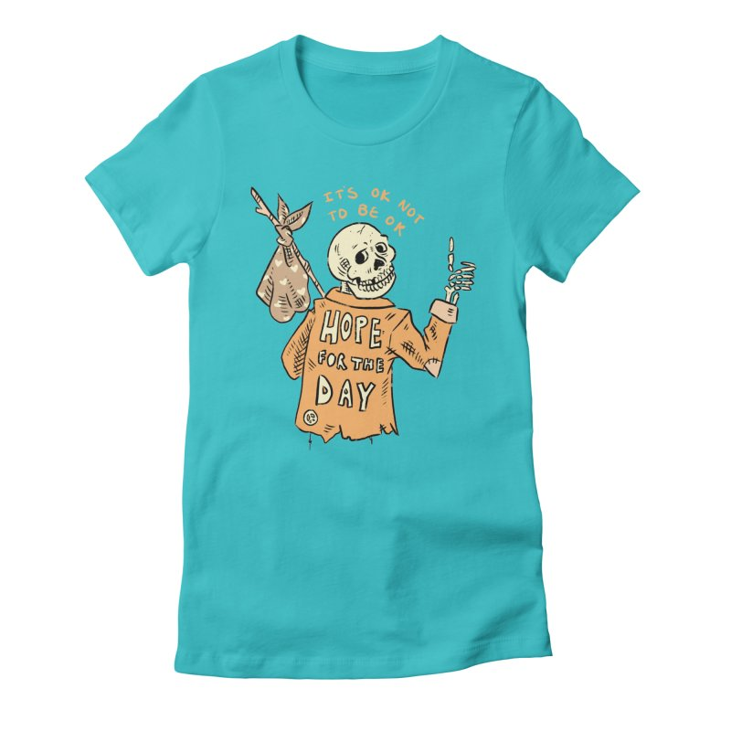 Karen Mooney - Down But Not Out Women's Fitted T-Shirt by Hope for the Day Shop