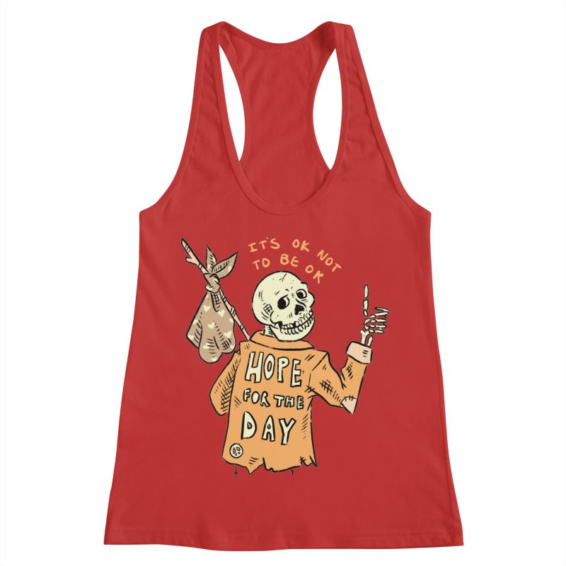 Karen Mooney - Down But Not Out Women's Racerback Tank by Hope for the Day Shop